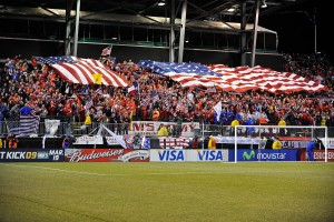 COLUMBUS, OH - FEBRUARY 11: General view of Sam's Army rooting section during the USA game against Mexico during a FIFA 2010 World Cup qualifying match in the CONCACAF region on February 11, 2009 at Columbus Crew Stadium in Columbus, Ohio. (Photo by Jamie Sabau/Getty Images)
